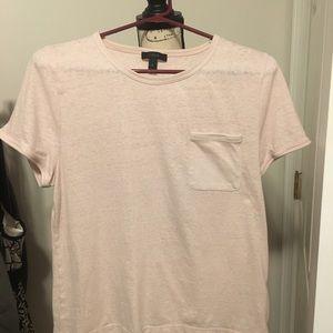 311-J. Crew light pink t shirt XL